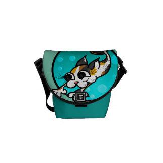 CUTE CARTOON CAT MERMAID MINI MESSENGER BAG