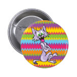 Cute Cartoon Cat Pinback Button