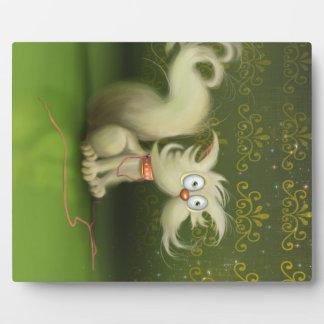 cute cartoon cat Plaque