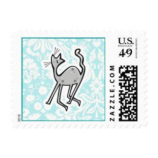 Cute Cartoon Cat Postage