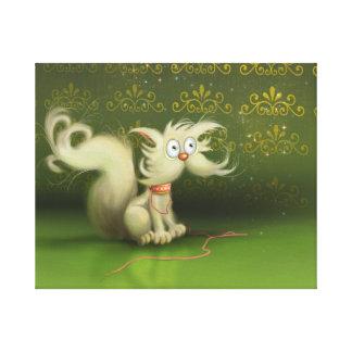 cute cartoon cat Stretched Canvas Print