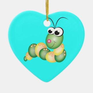 Cute Cartoon Caterpillar Ceramic Ornament