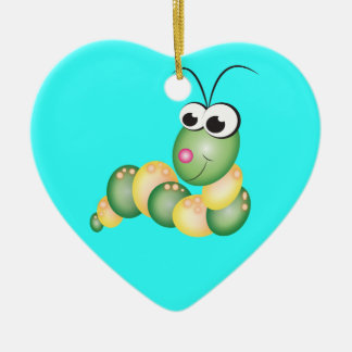 Cute Cartoon Caterpillar Christmas Tree Ornament