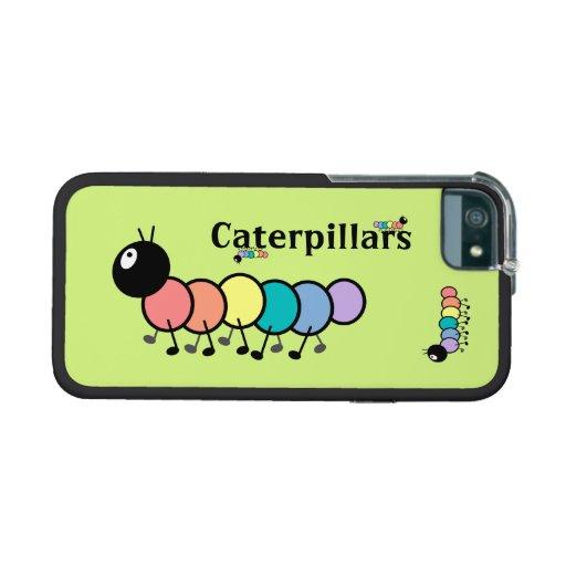 Cute Cartoon Caterpillars (Grass Green Background) iPhone 5/5S Case