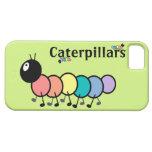 Cute Cartoon Caterpillars (Grass Green Background) iPhone 5 Cases