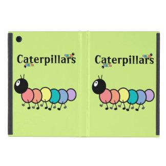 Cute Cartoon Caterpillars (Grass Green Background) iPad Mini Cases