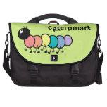 Cute Cartoon Caterpillars (Grass Green Background) Commuter Bags