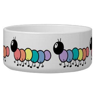 Cute Cartoon Caterpillars Pet Food Bowl