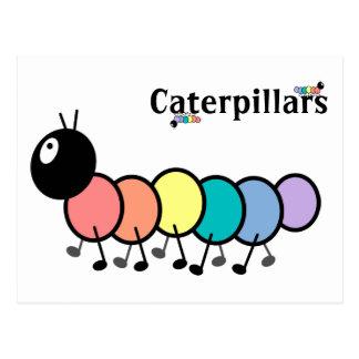Cute Cartoon Caterpillars Postcards
