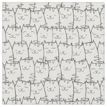Cute cartoon cats fabric 2