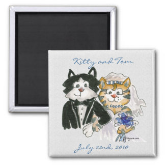 Cute Cartoon Cats Wedding Save the Date Magnets