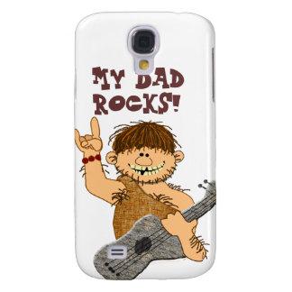 Cute Cartoon Caveman My Dad Rocks for Father Samsung Galaxy S4 Cases