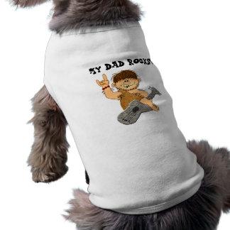 Cute Cartoon Caveman My Dad Rocks for Father Pet Tee Shirt
