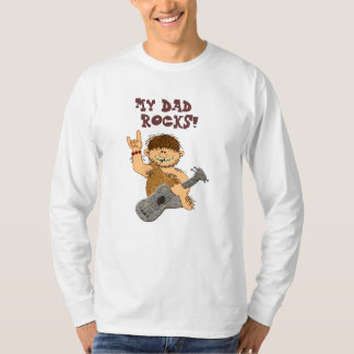 Cute Cartoon Caveman My Dad Rocks for Father Shirt