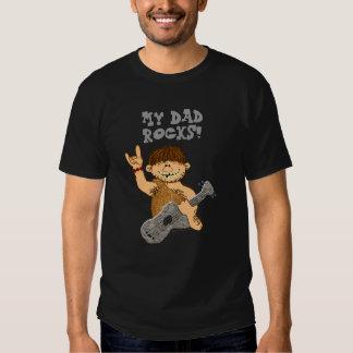 Cute Cartoon Caveman My Dad Rocks for Father T-shirts