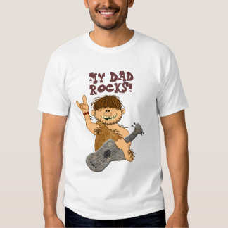 Cute Cartoon Caveman My Dad Rocks for Father Tee