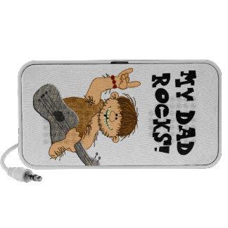 Cute Cartoon Caveman My Dad Rocks for Father Travel Speaker