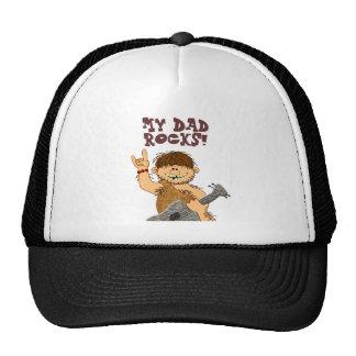 Cute Cartoon Caveman My Dad Rocks for Father Trucker Hat