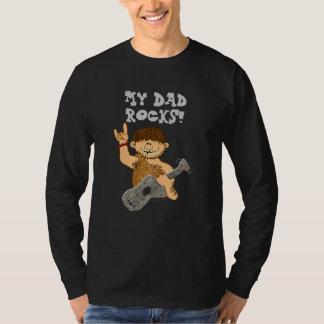 Cute Cartoon Caveman My Dad Rocks for Father Tshirt