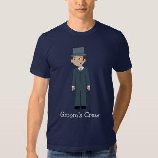 Cute Cartoon Character Groom's Crew Bachelor Party Shirt
