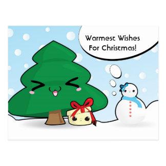 Cute cartoon characters Christmas card
