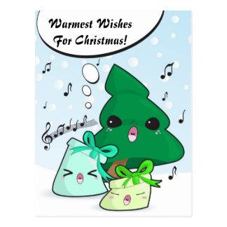 Cute cartoon characters Christmas card Post Card