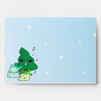 Cute cartoon characters Christmas envelope