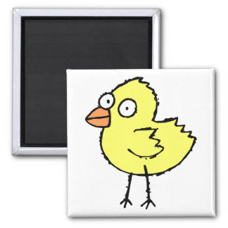 Cute Cartoon Chick 2 Inch Square Magnet
