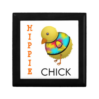 Cute Cartoon Chicken with Colorful Tie Dye T-Shirt Gift Box