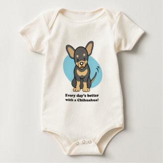 Cute Cartoon Chihuahua Baby Tee