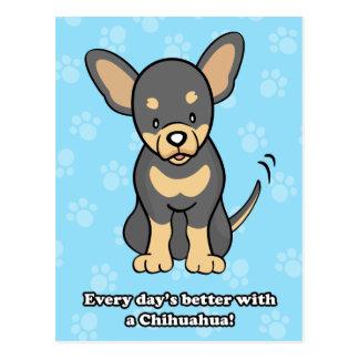 Cute Cartoon Chihuahua Postcard