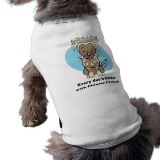 Cute Cartoon Chinese Crested Pet Clothing