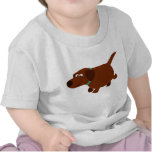 Cute Cartoon Chocolate Labrador Baby T-Shirt