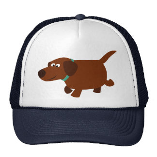 Cute Cartoon Chocolate Labrador Hat