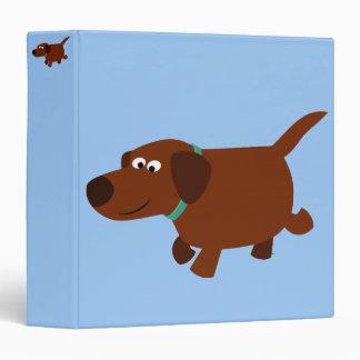Cute Cartoon Chocolate Labrador Retriever Binder