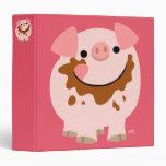 Cute Cartoon Chocolate Pig Binder
