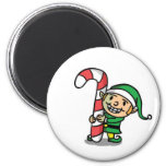 Cute Cartoon Christmas Elf Magnet