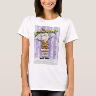Cute Cartoon Christmas, I Believe in Santa Claus T-Shirt