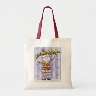 Cute Cartoon Christmas, I Believe in Santa Claus Tote Bag