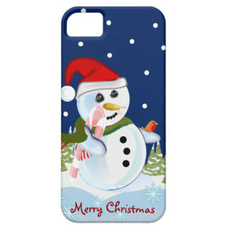 Cute cartoon christmas iPhone 3 case-mate Snowman