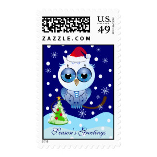 Cute Cartoon Christmas postage with Owl