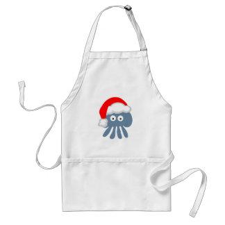 Cute Cartoon Christmas Santa Jellyfish Apron