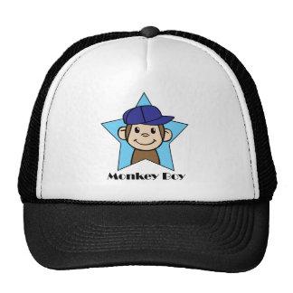 Cute Cartoon Clip Art Happy Monkey in Star w Hat