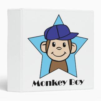 Cute Cartoon Clip Art Happy Monkey in Star w Hat 3 Ring Binder
