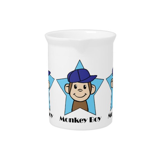 Cute Cartoon Clip Art Happy Monkey in Star w Hat Pitcher