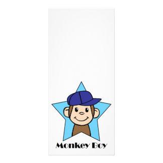 Cute Cartoon Clip Art Happy Monkey in Star w Hat Rack Card Template