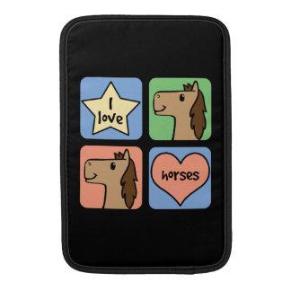 Cute Cartoon Clip Art I Love Horses Smileys Sleeve For MacBook Air