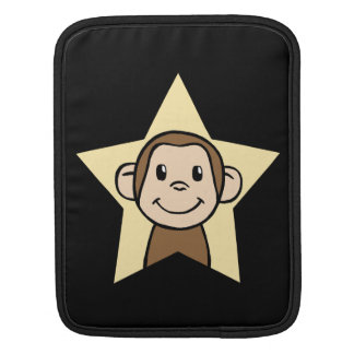 Cute Cartoon Clip Art Monkey with Grin Smile Star Sleeves For iPads