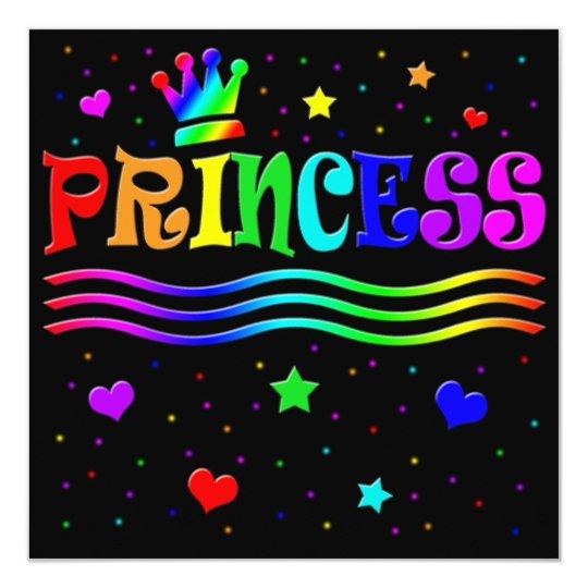 Cute Cartoon Clip Art Princess Bachelorette Party! Card