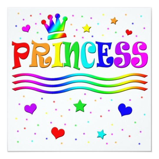 Cute Cartoon Clip Art Princess Girl Baby Shower Card